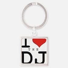 i love the DJ Square Keychain