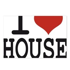 i love house Postcards (Package of 8)