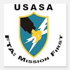 """ASA_FTA_Tshirt Square Car Magnet 3"""" x 3"""""""