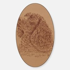 Water_Spaniel_KlineSq Sticker (Oval)