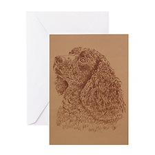 Water_Spaniel_KlineSq Greeting Card