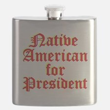 Native American for President Flask