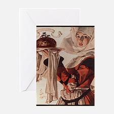 Vintage Christmas Victgorian Holiday Greeting Card