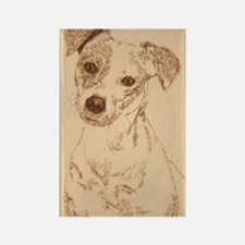 Jack_Russell_Smooth_KlineSq Rectangle Magnet