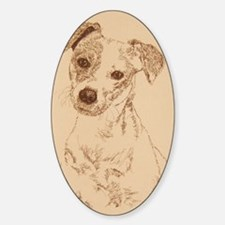 Jack_Russell_Smooth_KlineSq Sticker (Oval)
