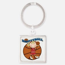 basketballkidfour Square Keychain