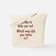 help-out_rnd1 Tote Bag