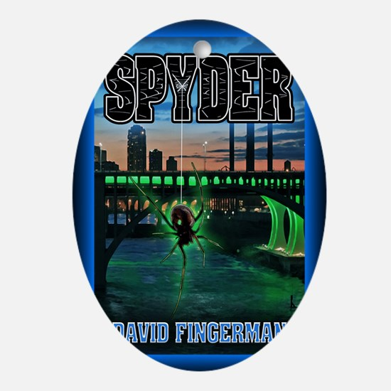 Spyder greeting card Oval Ornament