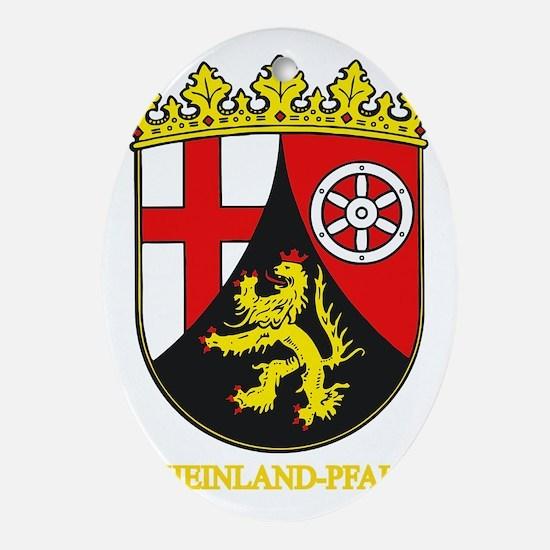 Rheinland-Pfalz (gold) Oval Ornament