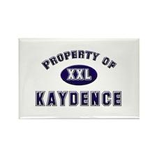 Property of kaydence Rectangle Magnet