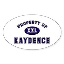 Property of kaydence Oval Decal