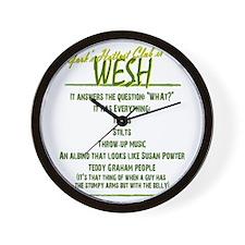 Wesh back2b Wall Clock