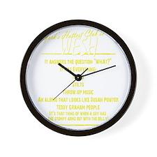 Wesh back reverse Wall Clock