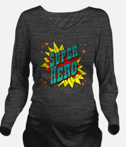 superhero Long Sleeve Maternity T-Shirt