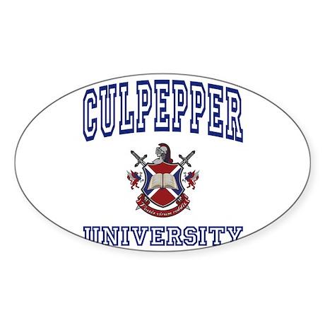 CULPEPPER University Oval Sticker