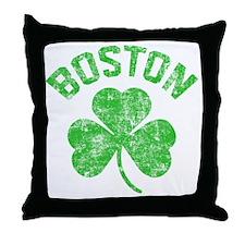 Boston Grunge - dk Throw Pillow