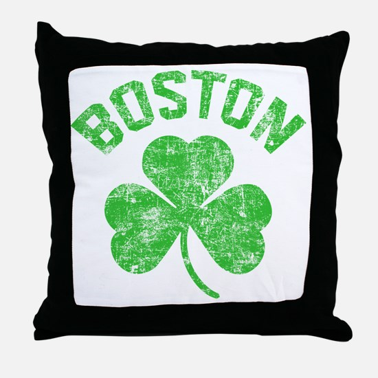 Boston Grunge - dk Throw Pillow