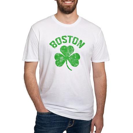 Boston Grunge - dk Fitted T-Shirt