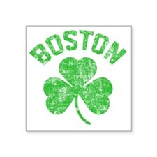 "Boston Grunge - dk Square Sticker 3"" x 3"""