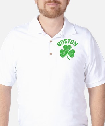 Boston Grunge - dk Golf Shirt