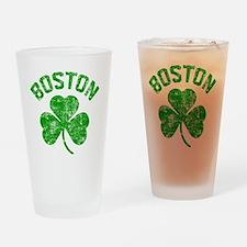 Boston Grunge Drinking Glass