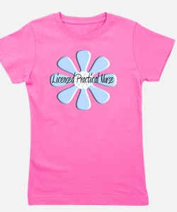 Licensed Prac Nurse BLUE FLOWER Girl's Tee