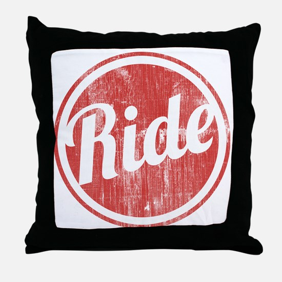 Vintage_Ride Throw Pillow