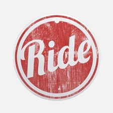 Vintage_Ride Round Ornament
