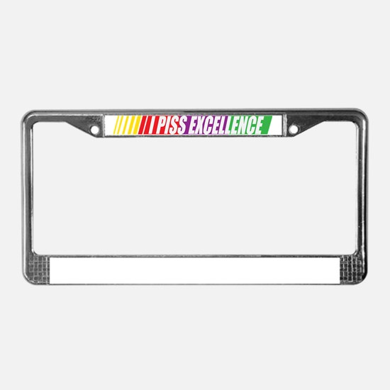 I Piss Excellence License Plate Frame