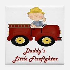 Daddys Little Firefighter1 Tile Coaster