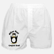 whoo hoo congrats grad prenguin Boxer Shorts