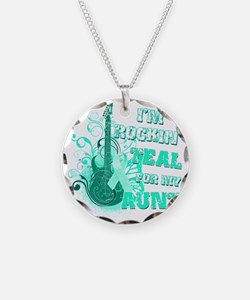 Im Rockin Teal for my Aunt Necklace Circle Charm