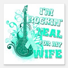 """Im Rockin Teal for my Wi Square Car Magnet 3"""" x 3"""""""