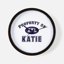 Property of katie Wall Clock