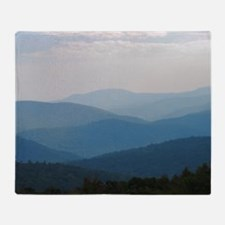 Blue Smokey Mountains #02 Throw Blanket