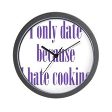 hate_cooking2 Wall Clock