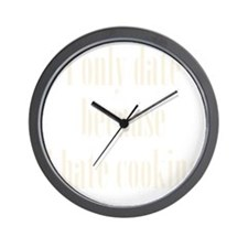 hate_cooking3 Wall Clock