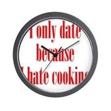 hate_cooking1 Wall Clock