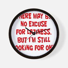 laziness-excuse2 Wall Clock