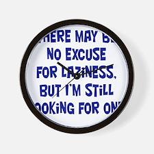laziness-excuse3 Wall Clock
