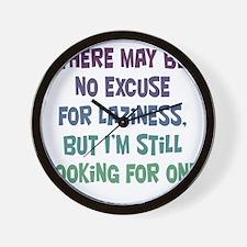 laziness-excuse1 Wall Clock