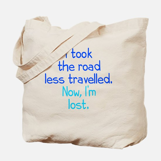 less-travelled_rnd1 Tote Bag