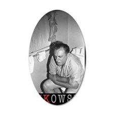 BUKOWSKI ON THE CAN BY SAM C Wall Decal