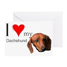 Ilovemydachshund Greeting Card