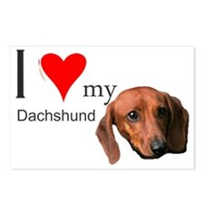 Ilovemydachshund Postcards (Package of 8)