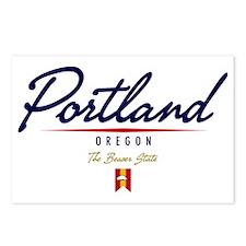 Portland Script W Postcards (Package of 8)
