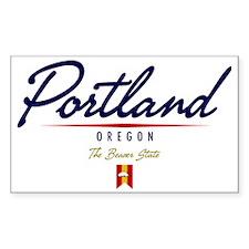 Portland Script W Decal