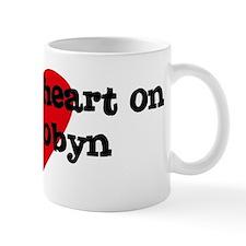 Heart on for Robyn Mug