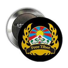 Flame Free Tibet Button