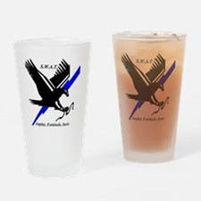 SWAT Eagle blueline Drinking Glass